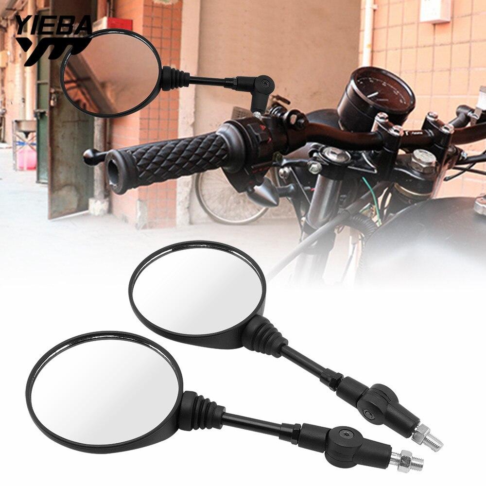 Motocicleta m8 m10 dobrável espelhos laterais retrovisor de moto espelho para dax honda transalp 600 yz250 triumph street twin xj6 cafe racer