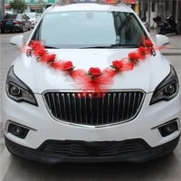 handmade artificial flowers for wedding car decoration garland foam roses flowers decorative tulle wreath for valentines day