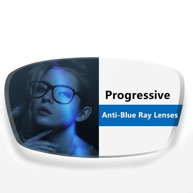 YIMARUILI-عدسات متعددة البؤر ومضادة للأشعة الزرقاء ، حسب الطلب ، 1.56 1.61 1.67 ، وصفة طبية لقصر النظر وجهد النظر