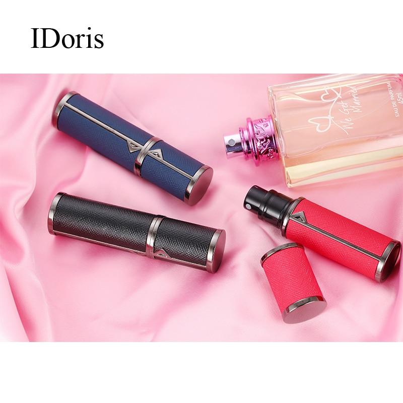 Vaporizadores de perfume IDoris, botellas vacías, partes de red, artefacto, botella de spray portátil de muestra de alta calidad, tipo de prensa de viaje portátil
