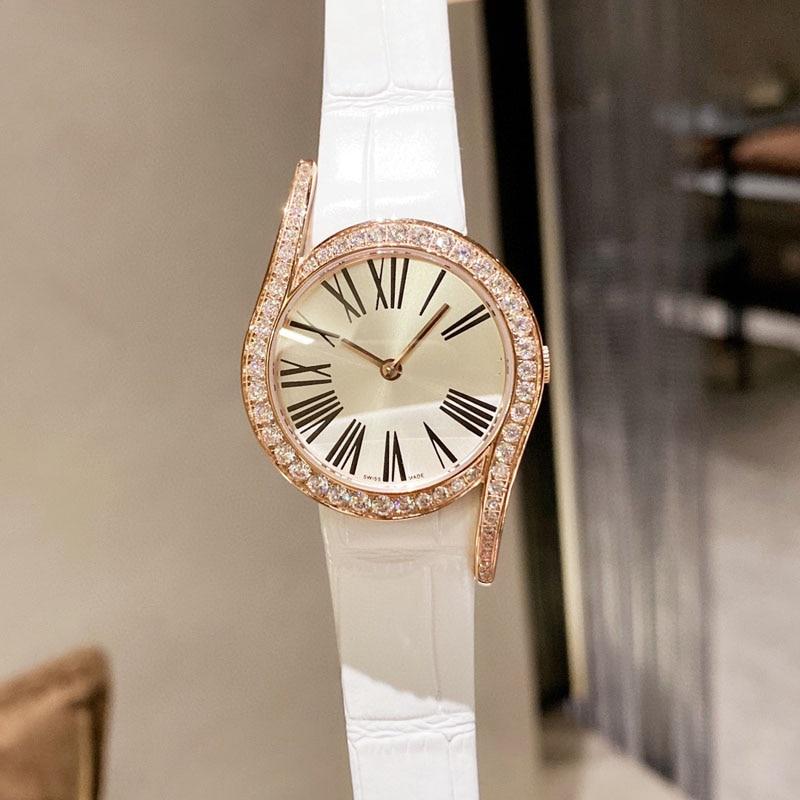 New simple design Geometric Fashion Six-nine 6-9 Women watches Stainless steel Roman Number Quartz clock Watch enlarge