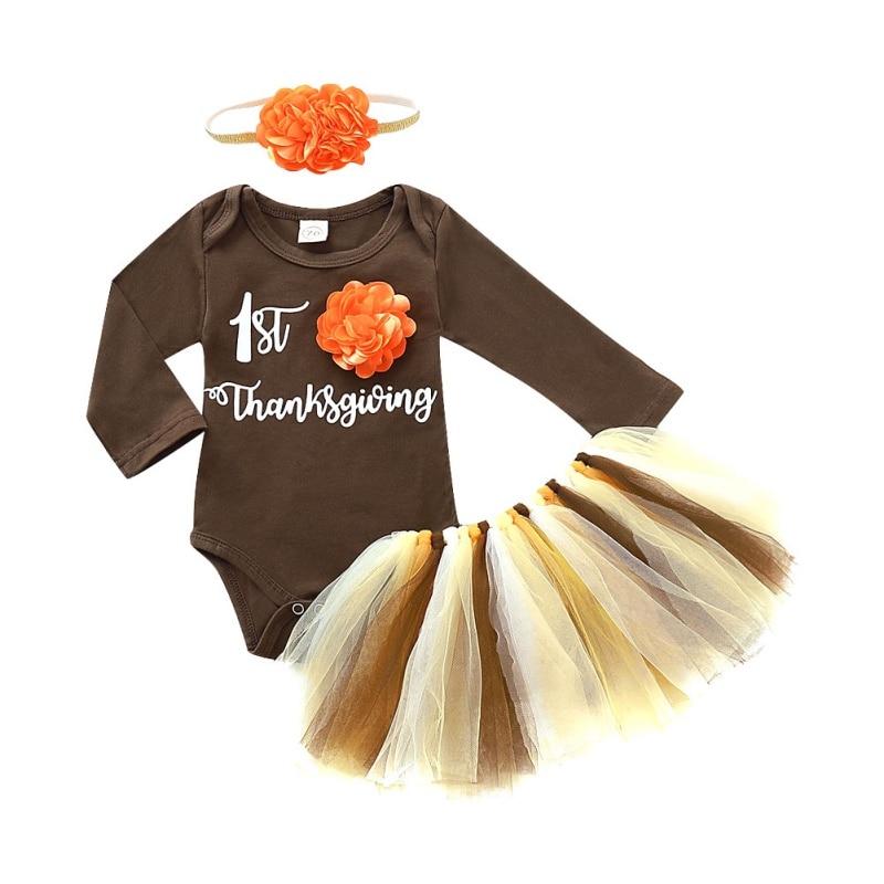 Ropa para bebé niña recién nacido carters conjuntos de ropa para niña Otoño Invierno mameluco con tutú vestido diademas para bebés
