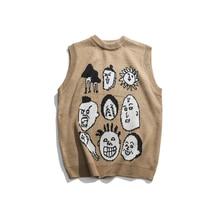 Giapponese Harajuku Lavorato A Maglia Grafici Della Maglia per Gli Uomini e Le Donne Urbana Streetwear Maglia Ukiyo-e Pullover Maglione Della Maglia Più Il Formato