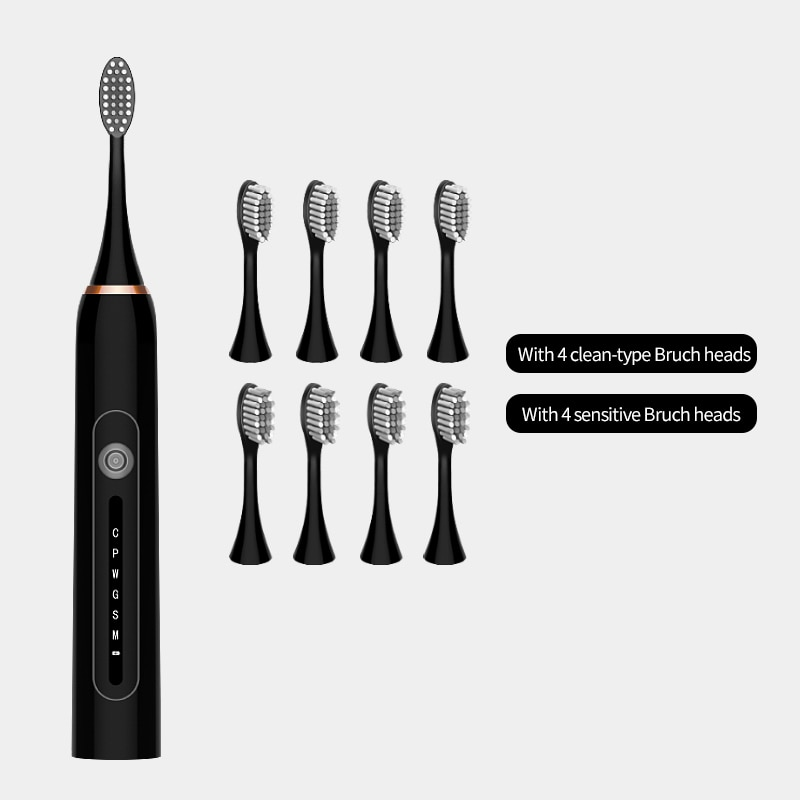 sonic electric toothbrush smart tooth brush ultrasonic automatic toothbrush USB fast rechargeable adult Adult Waterproof   3
