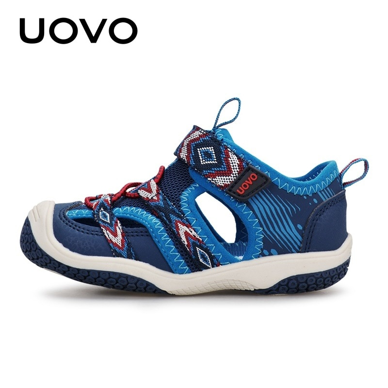 Uovo-صنادل صيفية للأولاد والبنات ، أحذية شاطئية عصرية ، مانعة للانزلاق ، أحذية رياضية ، أزرق ، للأطفال 2 3 4 5 6 سنوات ، 2020