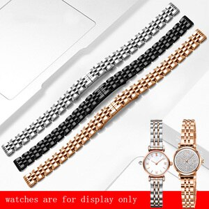 Yopo  Fine Steel Wristband Replacement Metal Strap For AR 1763 11266 1684 1764 Stainless Steel Women's Bracelet 10mm