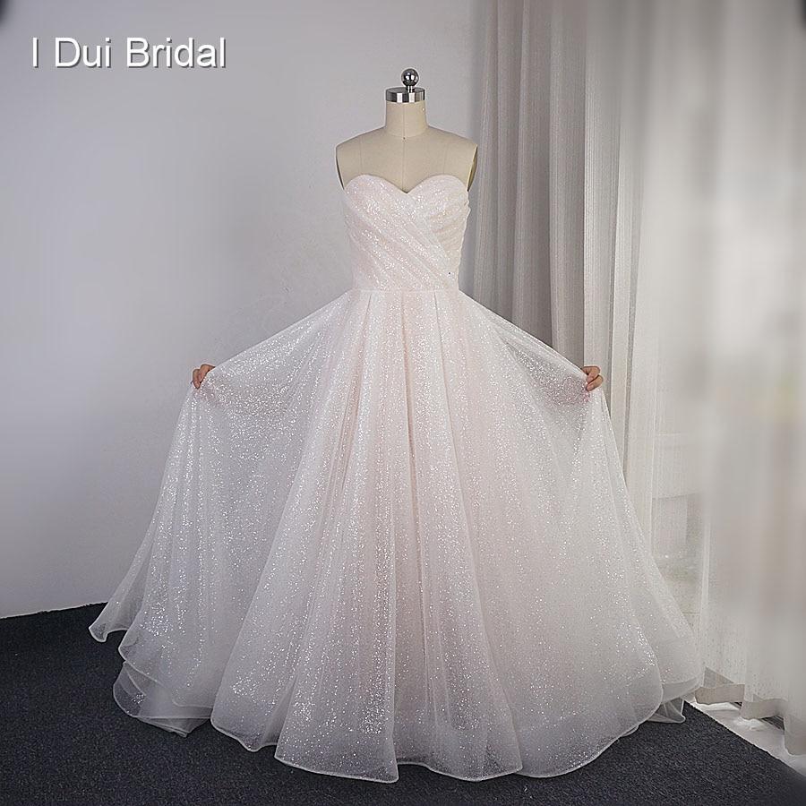 فستان زفاف لامع, مصنوع حسب الطلب ، تنورة لامعة ، ثوب زفاف جديد