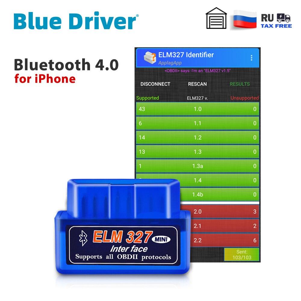 Bluetooth ELM327 V2.1 для iPhone, бесплатное обновление, автомобильный OBD2 сканер, Автомобильные диагностические инструменты