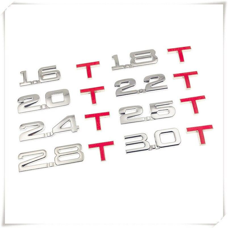 Car 3D Metal displacement 1.6T 1.8T 2.0T 2.8T Sticker for Mitsubishi ASX Endeavor Expo Galant Grandis Lancer Mirage Montero