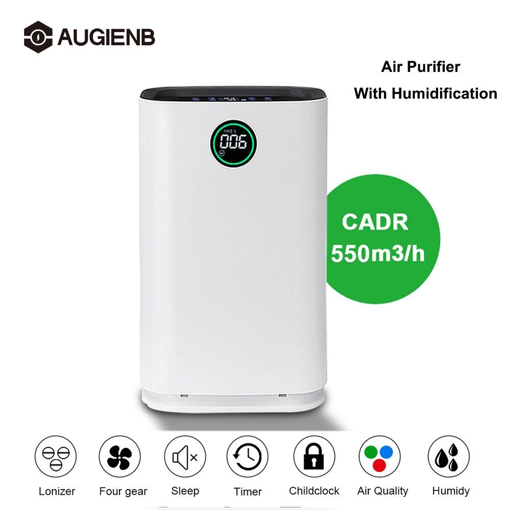 Augienb purificador de ar fresco ozônio grande purificador de ar hepa filtro alergias eliminador íon negativo para pm2.5 poeira pólen pet cabelo