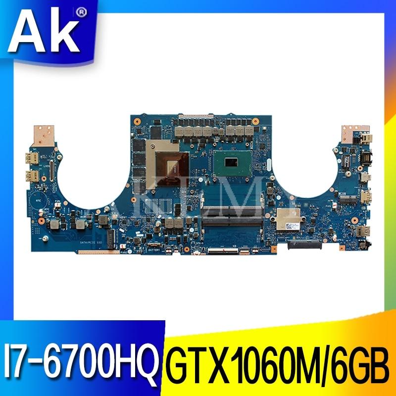 Akemy GL702VM для ASUS ROG GL702VM GL702V Laotop материнская плата GL702VM с I7-6700HQ GTX1060M/6 ГБ DDR4