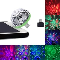 mini usb colorful atmosphere light usb home party lighting led interior lamp club disco magic stage effect portable lights