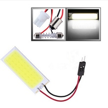 6W COB 36 Chip LED Car Interior Light T10 BA9S Festoon Dome Adapter 12V Panel light bulbs Auto car light source