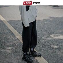 LAPPSTER hommes Harajuku sarouel 2020 automne Streetwear coton pantalons de survêtement homme gris Vintage Joggers pantalon décontracté coréen vêtements