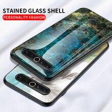 Caso de vidro temperado para meizu nota 9 16s 16xs x8 16 17 pro 16x 16th plus m6t m5 m6 luxo pedra pintura de mármore capa traseira coque