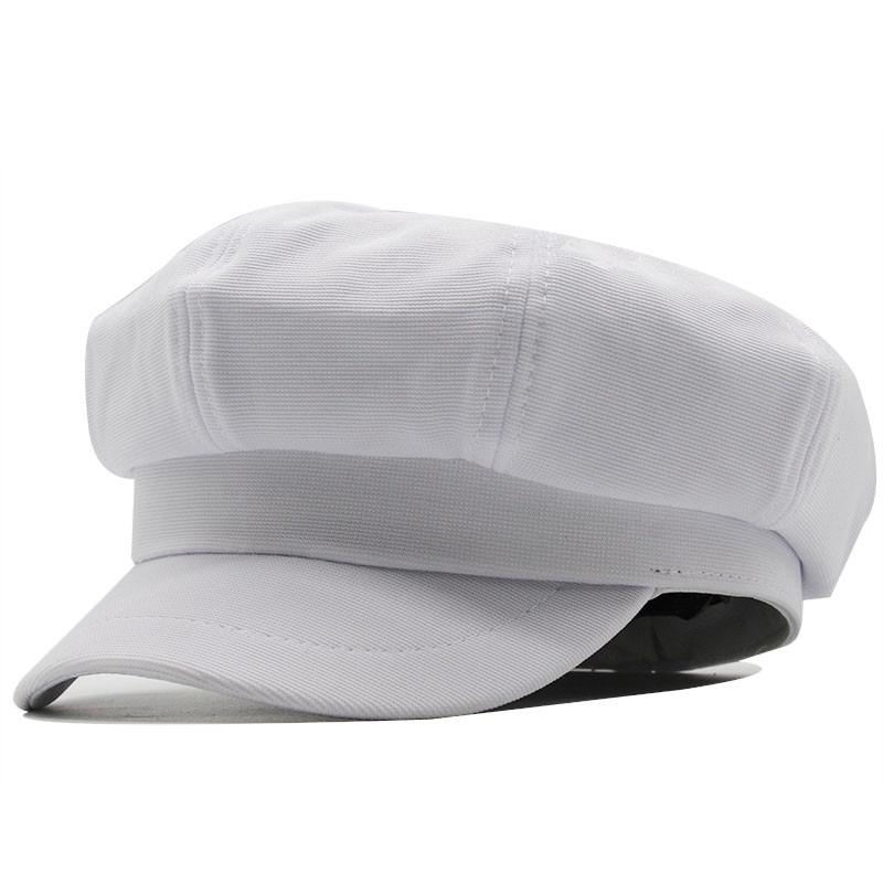 Nova xadrez boina branca chapéus para mulheres boinas francesas moda feminina houndstooth boinas preto xadrez boné newsboy