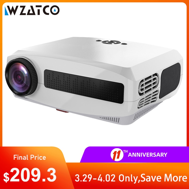 AliExpress - WZATCO C3 New LED Projector Android 10.0 WIFI Full HD 1080P 300 inch Big Screen Proyector 3D Home Theater Smart Video Beamer