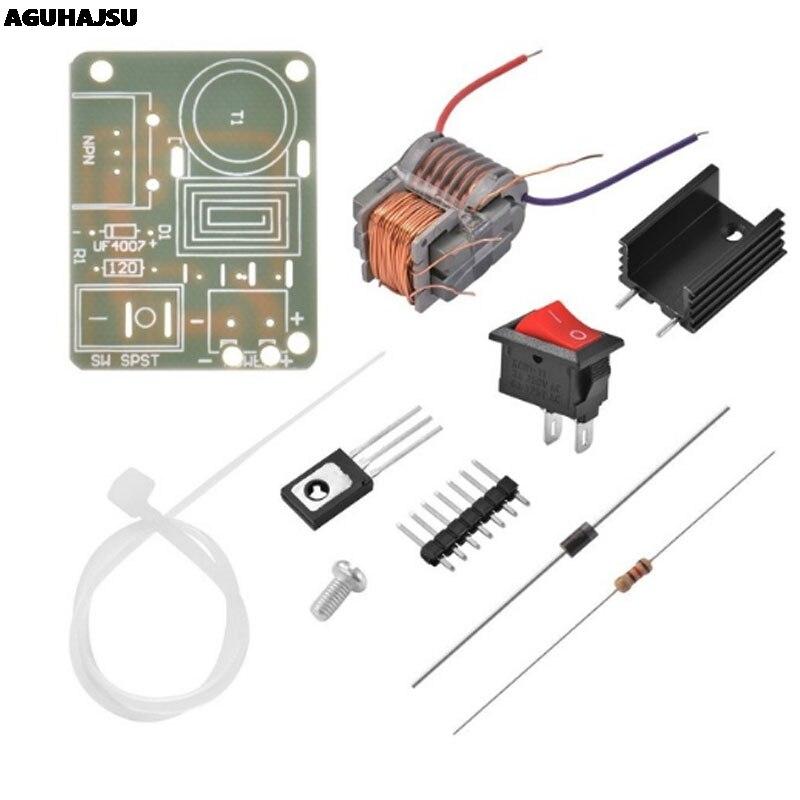 15KV alta frecuencia CC alto arco de voltaje ignición generador inversor Boost Step Up 18650 DIY Kit U Core transformador Suite 3,7 V