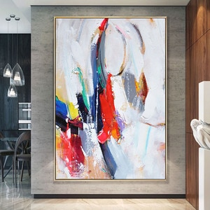 100% Handpainted Oil Paintings On Canvas Modern Colorful Oil Painting Abstract Wall Art Living Room Decoration Picture Unframed