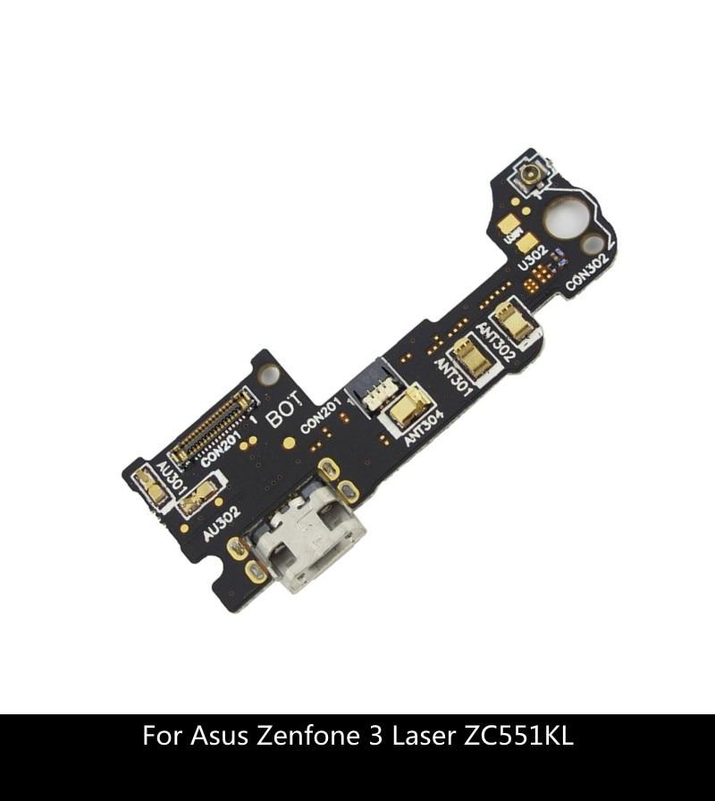 Запасные части для Asus Zenfone 3 Laser ZC551KL док-разъем Micro USB зарядное устройство порт для зарядки Микрофон с гибким кабелем плата