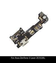 Części zamienne do Asus Zenfone 3 Laser ZC551KL złącze stacji dokującej ładowarka micro usb Port ładowania Flex mikrofon przewodowy