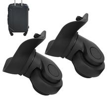 EIN Paar Durable A09 Schwarz Koffer Stumm Einreihige Rad Universal Gepäck Ersatz Outdoor Liefert Für Koffer Zubehör
