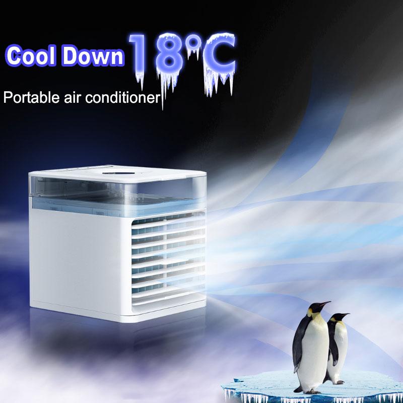 مبرد الهواء المحمول المنزلية متعددة الوظائف المرطب لتنقية USB سطح المكتب مكيف الهواء