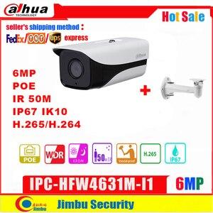 Dahua IP Camera POE 6Mp IPC-HFW4631M-I1 H.265 IR50M Bullet Replace IPC-HFW4431M-I1Outdoor Water-proof Security CCTV camera