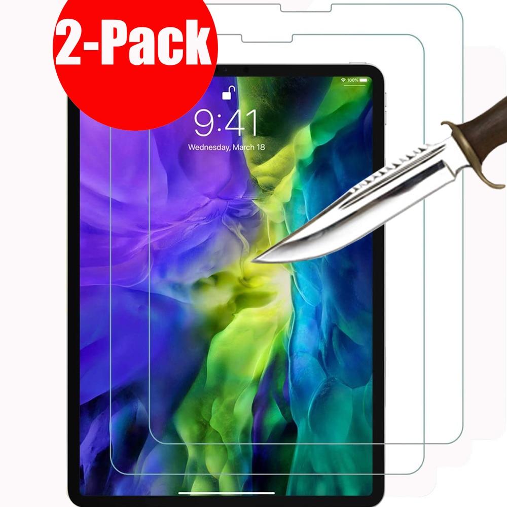 Paquete de 2 protectores de pantalla para Apple iPad Pro de 11 pulgadas (2020 y 2018 modelos) A2228 A2068 A2230 A1980 A2013 A1934 pro 10,5 9,7 12,9