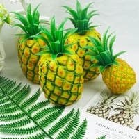 artificial pineapple simulation fake ananas plastic hotel bar cafe exhibition hall fruit photography props decoration