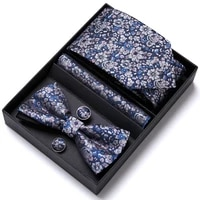 many color hot sale brand nice handmade tie hanky pocket squares cufflink set necktie box printed independence day