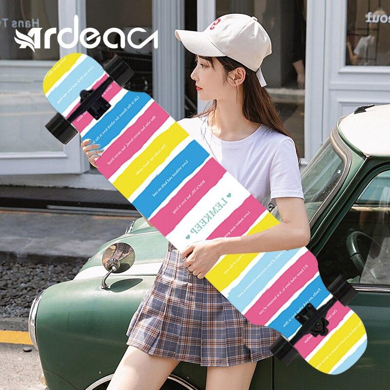 ARDEA Skateboard MS400 107cm/42in Beginnner Russia Maple longboard Boy and Girl Long board Adult Teenager Dancing skate board