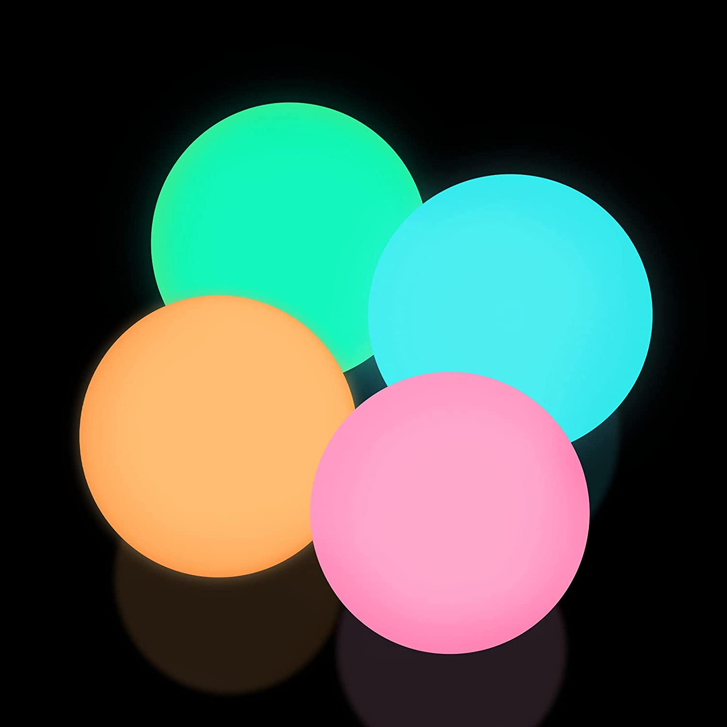 4 Pcs Fluorescence Glowing Sticky Balls, Gets Stuck on The Roof Stress Ball for Decompression Relax Toy Teens and Adults