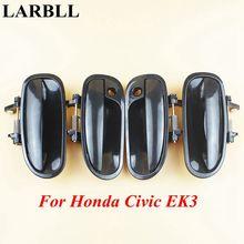 LARBLL poignée de porte extérieure pour Honda Civic   Accessoires de voiture avant arrière gauche droite noire extérieure, adaptée à Honda Civic EK3 1996-2000
