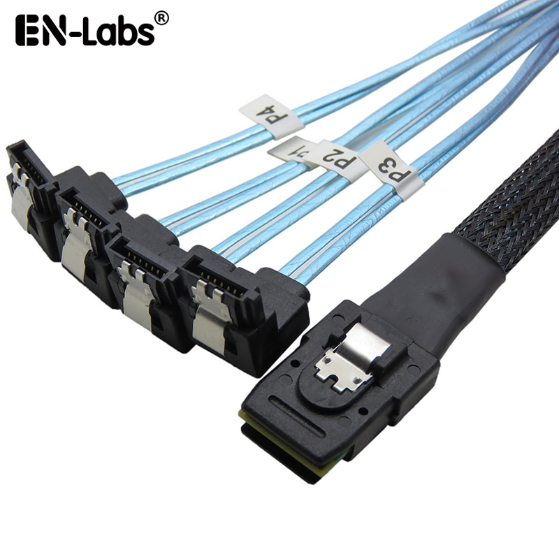 Конвертер-адаптер MiniSAS на SATA, контроллер SAS SFF 8087 6 ГБ на 4 X SATA, кабель прямого прорыва, разъем для SFF-8087 на 4 SATA