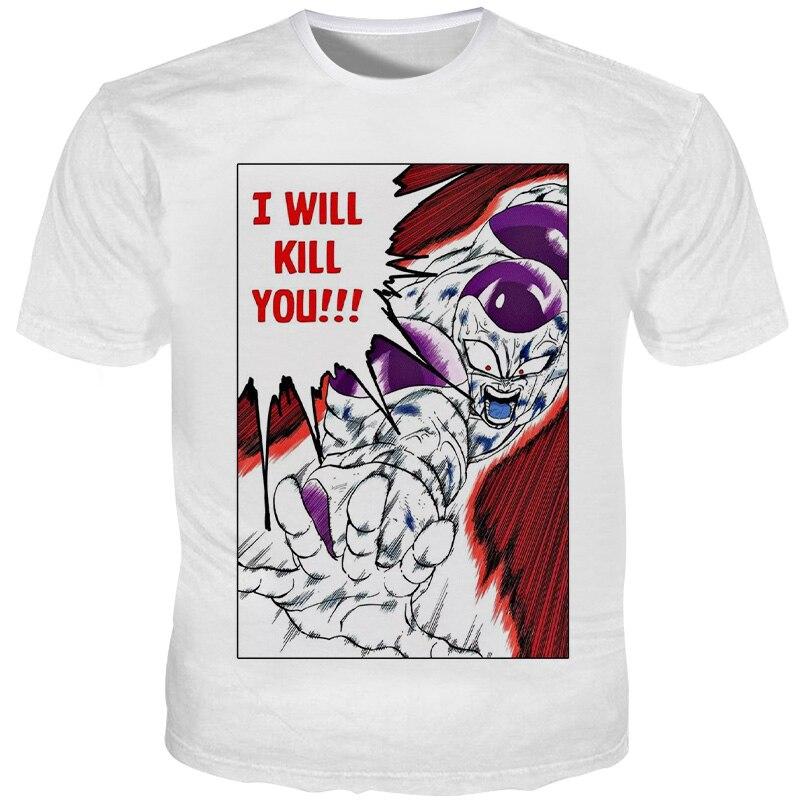 Cloudstyle Мужская футболка Frieza 3D Dragon Ball, мужская повседневная футболка из полиэстера Харадзюку, Мужская Высококачественная футболка с коротким рукавом