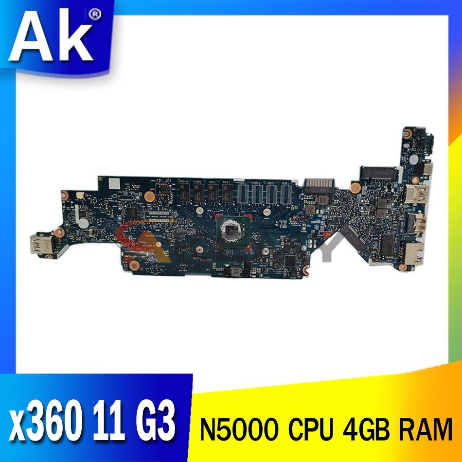 AKEMY ل HP PROBOOK x360 11 G3 اللوحة الأم للكمبيوتر المحمول 6050A3009601-MB-A01 L43774-601 مع وحدة المعالجة المركزية N5000 4GB RAM