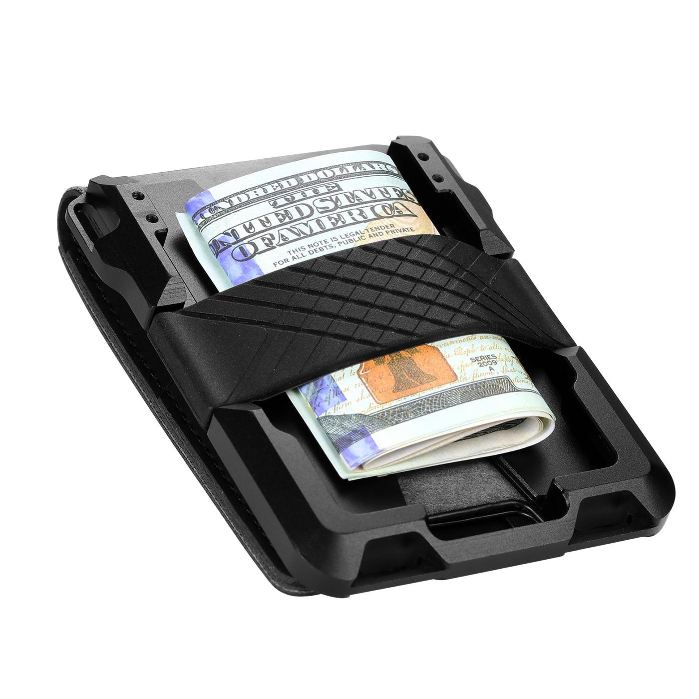 Металлическая Кредитная карта с Деньги Клип Чехол Бизнес ID держатель для карт чехол портмоне RFID защита банковской карты Чехол