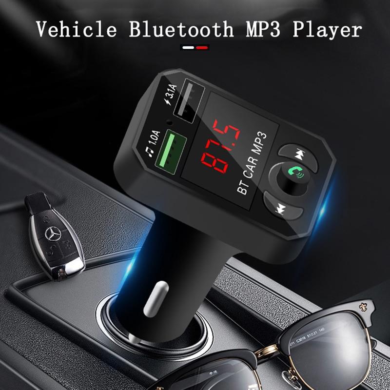 Transmisor FM con Bluetooth 5,0, modulador Aux, manos libres, llamadas, Audio para...