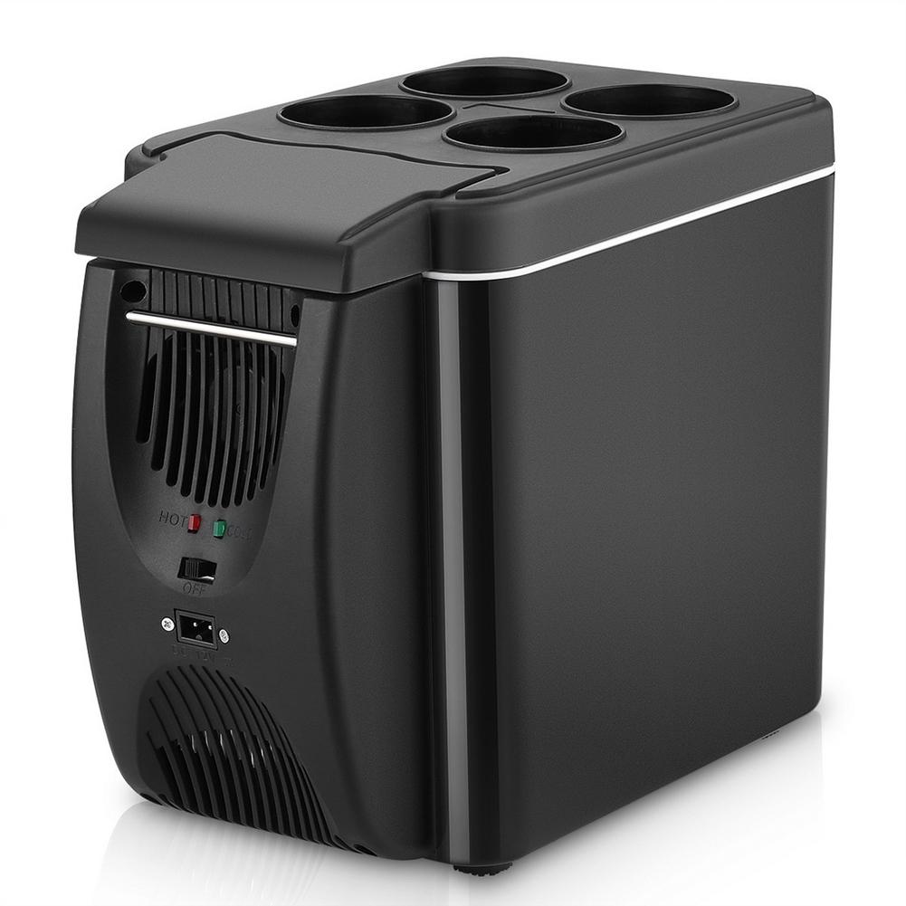 Electric Fridge Portable Icebox Travel Refrigerator 12V Refrigerator Freezer Heater 6L Mini Car Freezer Cooler & Warmer