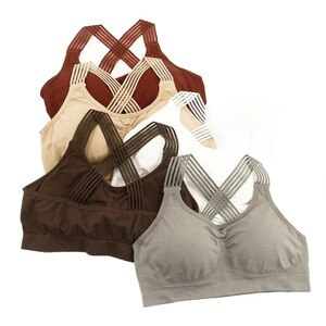 Cross-Back Wrap-Around Running Shock-Resistant Sports Underwear Non-Steel Ring Sleep Vest Tube Top a Large Amount