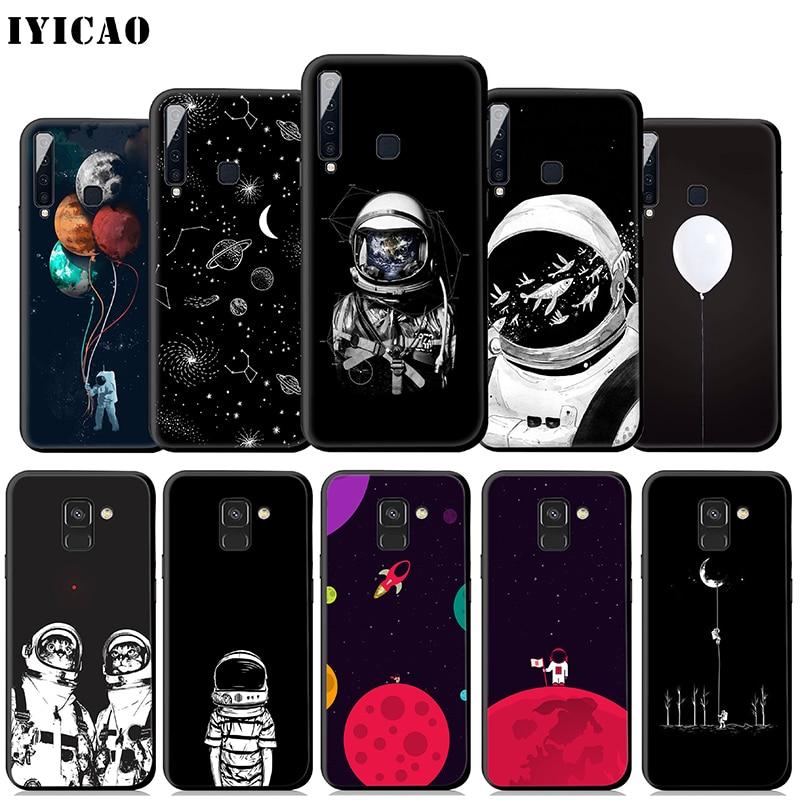 IYICAO espacio astronauta Luna suave caso para Samsung Galaxy A50 A60 A70 A40 A30 A20 A10 M10 M20 M30 M40 cubierta del teléfono