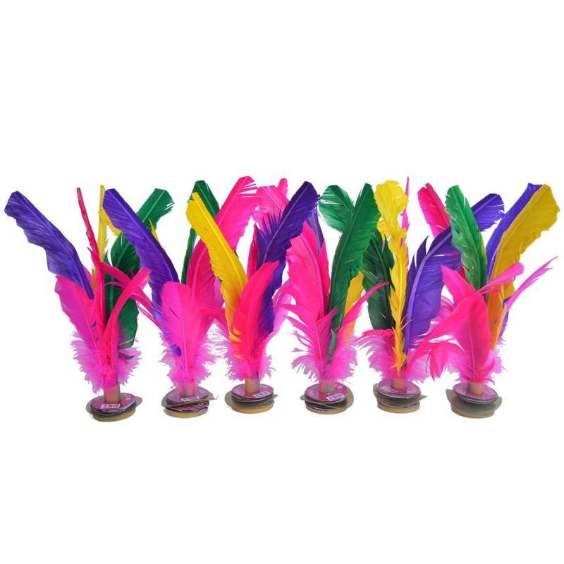 Juego de 6 uds. De Plumas coloridas, juguetes chinos Jianzi para aire libre