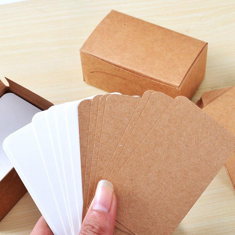 100 unids/lote de tarjetas de Color puro creativo Mini Kawaii Bloc de notas papel Kraft dejar un mensaje Oficina Decoración Post It notas adhesivas