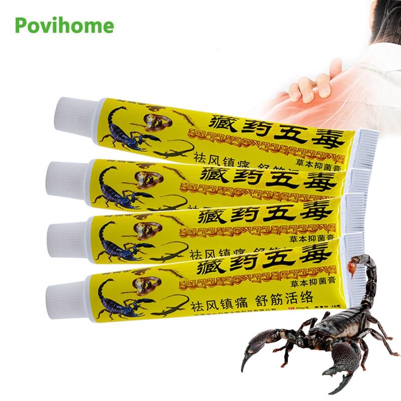 10Pcs Scorpion Venom Cream Lumbar Shoulder Orthopedic Ointment Arthritis Joint Muscle Sprain Pain Relief Oil Body Health Care