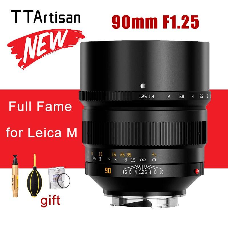 TTArtisan 90 مللي متر F1.25 عدسة الكاميرا كامل الشهرة عدسة ل Leica م جبل ل Leica M-M M240 M3 M6 M7 M8 M9 M9p M10 كاميرا