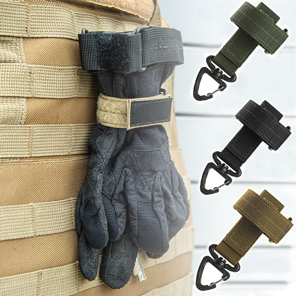 Multi-purpose Nylon Gloves Hook Work Gloves Safety Clip Outdoor Tactical Gloves Climbing Rope Anti-lost Camping Hanging Buck
