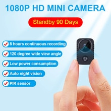 JOZUZE MD29 IR-CUT Mini Camera Smallest 1080P HD Camcorder Infrared Night Vision Micro Cam Motion De