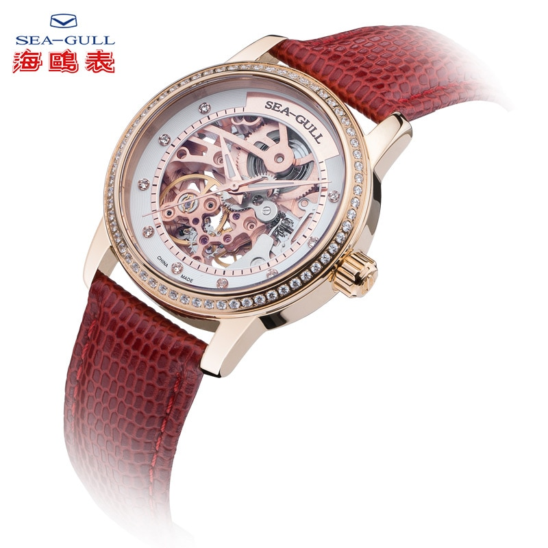Seagull new ladies watch ladies automatic mechanical watch 34mm fashion casual watch ladies sapphire watch 719.403L enlarge