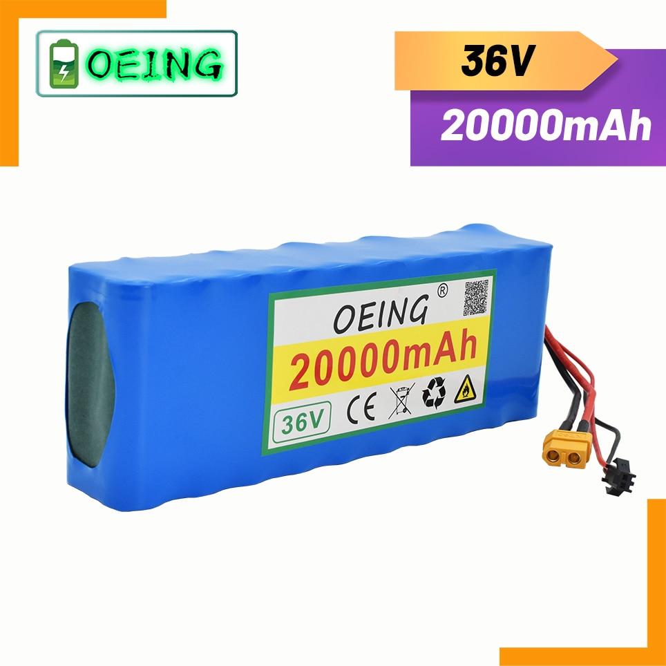 جديد جودة عالية 36 فولت 20-6 10s2p 18650 بطارية قابلة للشحن حزمة 20000mAh ، تعديل الدراجات ، مركبة كهربية 42 فولت حماية PCB